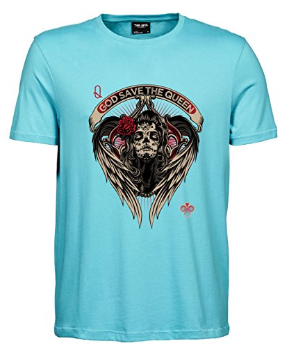 makato Herren T-Shirt Luxury Tee The Queen Aqua