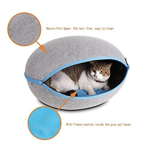 MUJING Manta cama perro forma huevo creativo mascotas
