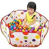 Malloom® Pop up Hexágono Lunares Niños Bola Juega piscina Carpa Llevar juguete de mano