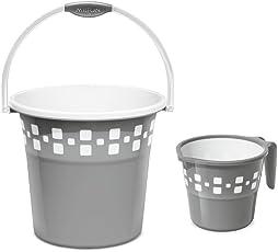 Milton Bucket set Mozaic with Mug (25l, Grey)