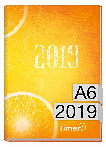 Chäff-Timer mini A6 Kalender 2019 [Fresh Orange] 12 Monate Jan-Dez 2019 - Terminkalender mit Wochenplaner - Organizer - Wochenkalender