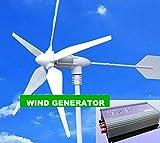 Gowe 600W Wind Generator + 1KW (AC 22V-60V 3Phase Eingang–AC 90V-150V/230V) Grid Tie Wind Inverter für Home mit, TV, Fans, Computer