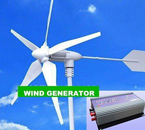 erator + 1KW (AC 22V-60V 3Phase Eingang-AC 90V-150V/230V) Grid Tie Wind Inverter für Home mit, TV, Fans, Computer ()
