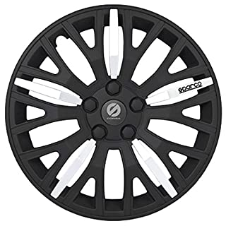 ASD Tech SP 1451L Pack 4Radkappen Design Sparco Leggera 14Zoll, schwarz/silberfarben