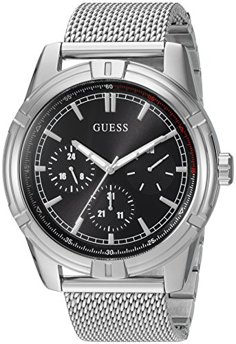 Guess Men's Quartz Stainless Steel Casual Watch, Color:Silver-Toned (Model: U0965G1)