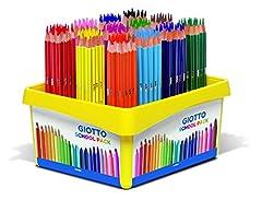 Idea Regalo - Giotto- Schoolpack 192 Pz Stilnovo-16 X 12, Colori Assortiti, 5234 00