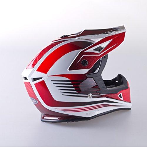 VIPER RS X95 MOTOCROSS MOTO QUAD ATV DIRT ENDURO OFF ROAD SPORT RENNEN MOTORRADHELM ROT (S (55-56 CM)) - 3