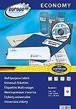 europe100 ELA021 Universaletiketten, 105 x 48 mm, 100 Blatt/1200 Etiketten, weiß