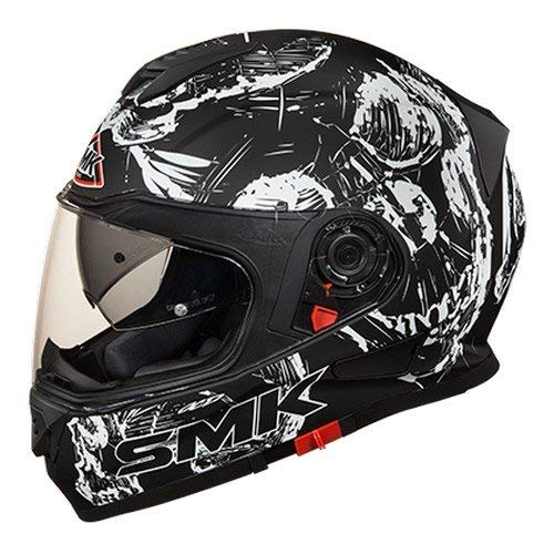 SMK MA210 Twister SKULL Graphics Pinlock Fitted Full Face Helmet With Clear Visor (X - Large)