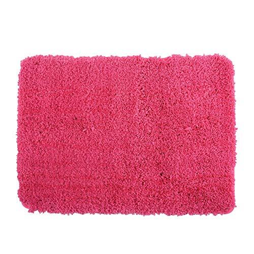 MSV Badteppich Badematte Badvorleger Duschvorleger Mikrofaser Hochflor flauschig 50x70 cm – Pink