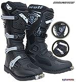 WULFSPORT Track Star Fibra Botas DE Motocross MX Adultos Quad Carreras Enduro Deportes Protection...