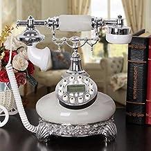 25 * 21 * 27 cm creative resina jade antiguos teléfonos, oficina viejo teléfono fijo ornamentos decorativos