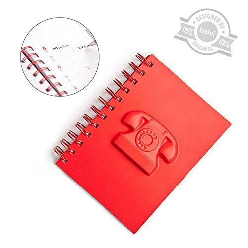 balvi-rubrica-telefonica-dial-up-rosso-pvc