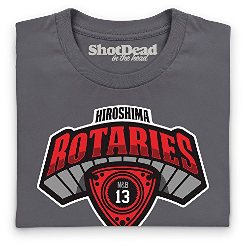 Nut & Bolt - Hiroshima Rotaries T-Shirt, Herren Anthrazit