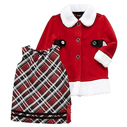 Holiday Editions Santa Outfit Weihnachten Mädchen Kleid + Mantel Set (104)