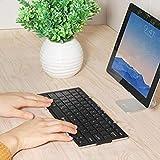 iClever Tastiera Bluetooth Tri-fold Tastiera senza fili Portatile Universale Ripiegabile Wireless Keyboard per IOS, Android e Windows,per iPad Mini, iPad Pro, iPhone, e altri Tablet e Smartphone, Ultra Sottile(BK03)
