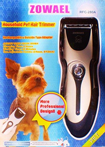 Zowael RFC-280A Geräuscharmer Haarschneidemaschine Hund und Katze wiederaufladbare drahtlose elektrische leise Tierhaarschneider (Tier-haarschneidemaschine Akku Ruhig)