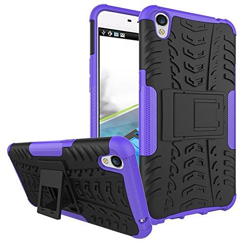 COVO® Festigkeit und Flexibilität Zurück Cover Style Smartphone Hülle mit Kickstand für OPPO F1 Plus (Purpur)