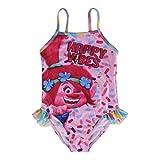 Trolls 2200002738 Costume Intero, con Volant, Bambina, Multicolore (6 anni)