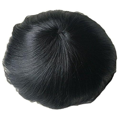 pancy Swiss Lace-Virgin Human Hair Toupee für Herren mit Ersatz-Herren-Perücke, 8x 10inch