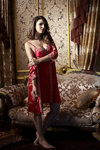 AORUI Damen Schlafanzug Rot Rot XXX-Large Rot - Rot