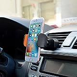 Support Voiture Auto Universel Brainwizz 2 en 1 - Fixation sur la Grille d'Aération / Ventilation Ou dans la Fente du Lecteur CD - Rotation à 360° pour iPhone Samsung, autres smartphones et GPS (Largeur max : 9.2 cm)