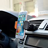 BrainWizz 2in 1Universal Car Holder Car Mount Ventilation Grille/Vent or in slot CD Player–360° rotation for Iphone Samsung and other Smart Phones and GPS Devices (Maximum Width: 9CM)