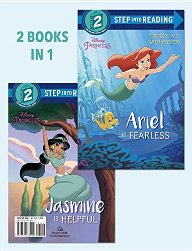 Ariel Is Fearless/Jasmine Is Helpful (Disney Princess) (Step Into Reading) por Liz Marsham