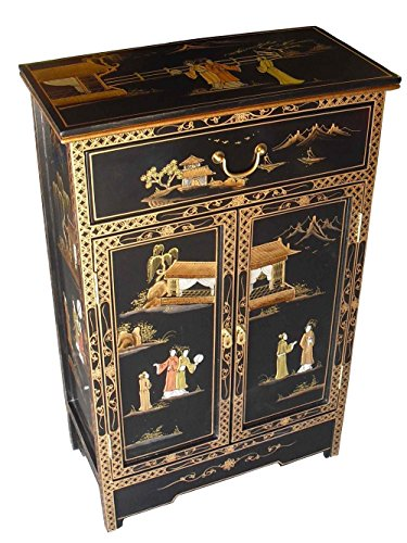 China Warehouse Direct Oriental/Chinese Furniture - Antique Lacquer Cabinet with Drawer