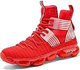 Garçon Fille Sneakers Chaussures de Basketball Mixte Enfant Baskets Mode Tennis Sneakers(8-Rouge 31...