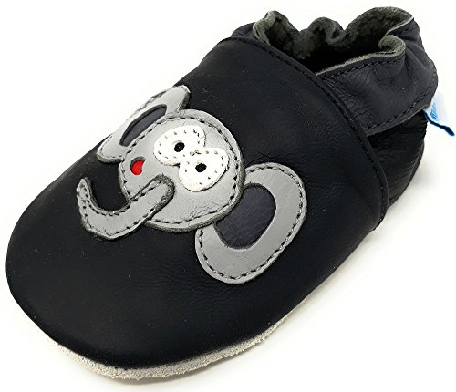 MiniFeet Premium Weiche Leder Babyschuhe, Elefant 2-3 Jahre (Einen Elefanten)