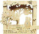 Unbekannt Holz Bastelset 3-D - Fensterbild / Bilderrahmen Sommer - komplett ausgesägt / zum selber basteln - Echt Erzgebirge Deko für Wei..