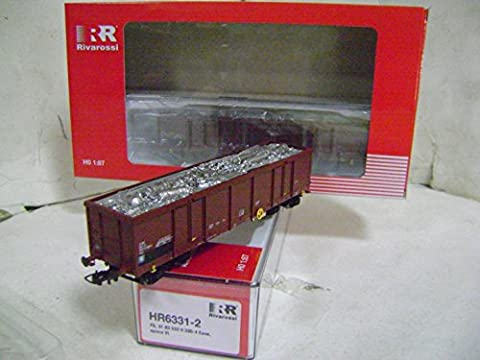 RIVAROSSI Set 2 EAOS FS freight wagons with scrap load HR 6331 Ho 1/87