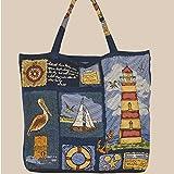 Tragetasche - Shopper Gobelin maritim ''Leuchtturm'' (45/45)