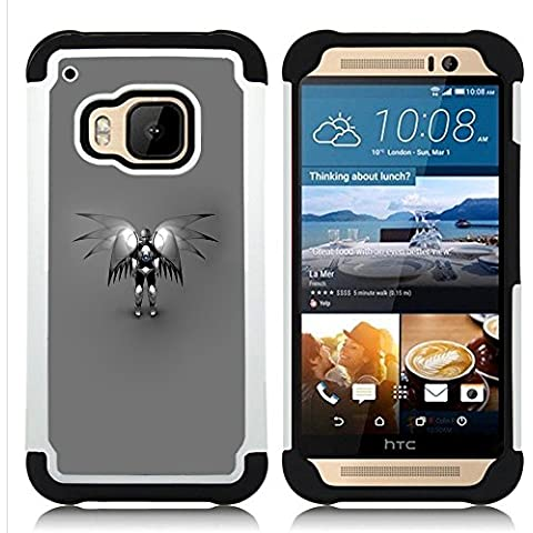 HTC One M9 /M9s / One Hima - 3 in 1 Colorful Heavy Duty Stampato (Angelo Leather Jacket)