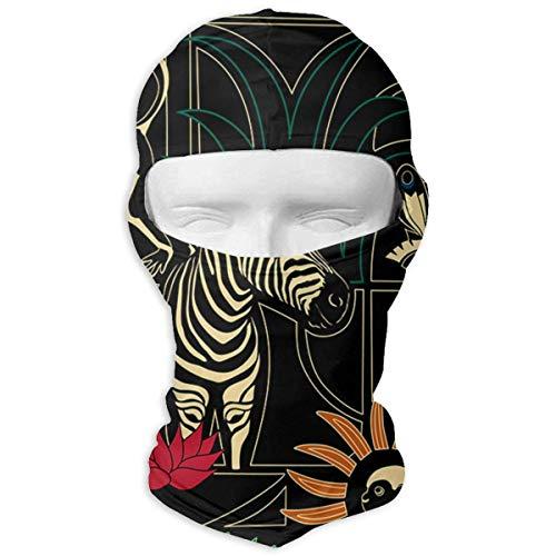 Jxrodekz Ski Mask Jungle Zebra Pattern Sun Customized Full Face Mask Motorcycling for Women and Men Tuff-dome