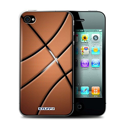Gedruckt Schutzkoffer Schutzhüllen / Hülle für Apple iPhone 4/4S / Basketball Muster / Sport Bälle/Ball Kollektion Basketball