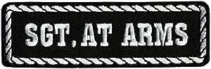 Patch /écusson Statut Sergent dArmes Moto club custom SGT.AT ARMS