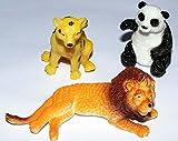 3 x Stretch Wildtiere (Löwe,Pandabär,Gepart)4,5-9 cm Gummidesign Spieltiere Gummitiere spielen+sammeln Mitbringsel 5313