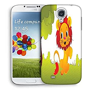Snoogg Cute Animal Lion Designer Protective Back Case Cover For Samsung Galaxy S4