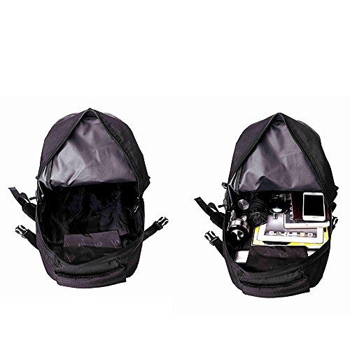 Unisex Outdoor-Reisen Bergsteigen Taschen Camping Rucksack Radfahren Paket Tactical Armee Fans packen Kampf-Rucksack 35L Assault Pack Schwarz