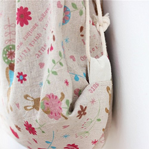 Hosaire 1x Kordelzug Rucksack Tasche Multifunktion Mode Farbe Muster Rucksack Faltbar Damen Canvas Backpack Outdoor Daypacks Rucksäcke mit Seil Stil 1
