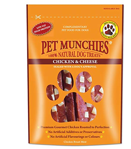 Pet Munchies Chicken Breast with Cheese 100 g, Pack of 8