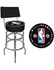 NBA Padded Swivel Bar Stool with Back by Trademark Gameroom