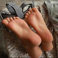 BIXINYAAN 40 Yards 1 Pair Silicone Male Mannequin Foot Display Sandal Shoe Sock Display Art Sketch