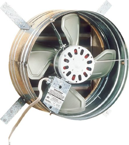Broan 35316 1600 CFM Gable Mount Powered Attic Ventilator by Broan (Mount Gable)