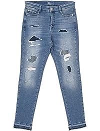 Mac, Damen Jeans Hose, Sexy Carrot Comic Pa,Stretchdenim,Blue Patches   2a4d83899d