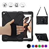 iPad Air 2 Case, BRAECN Heavy Duty Full-body Rugged PC Silicone Case Cover