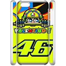 iPhone 6 6s Plus 5.5 3D Cell Phone Case White Valentino Rossi VR 46 Custom Case Cover QW8I555073