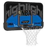 Spalding Basketballkorb Spalding NBA Highlight Backboard, schwarz/blau, 3001673011144